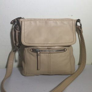 Fossil long live Vintage tan leather crossbody